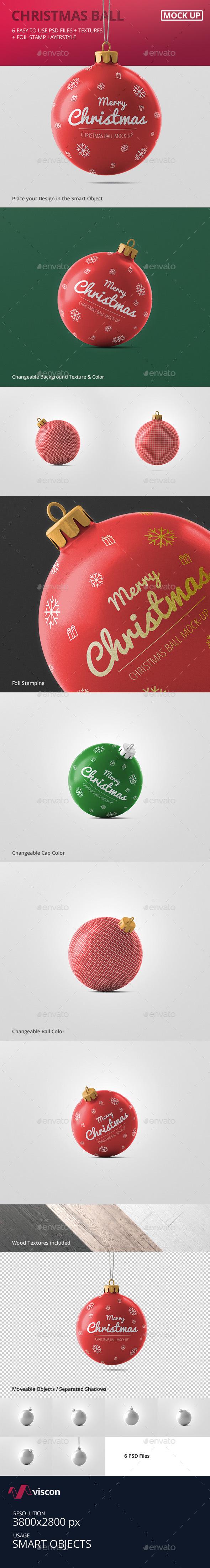 Christmas Ball Mockup - Miscellaneous Print