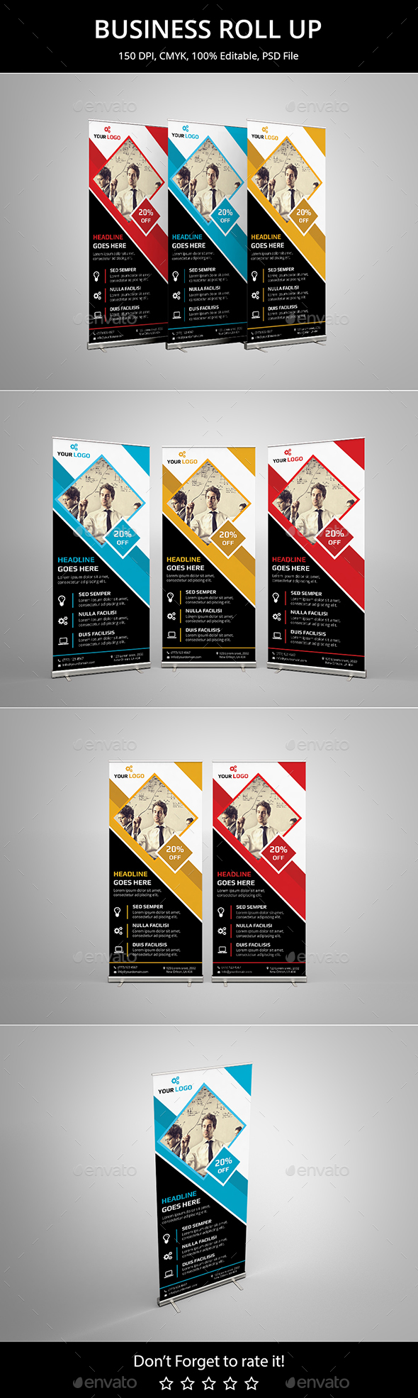 Business Roll up v13 - Signage Print Templates