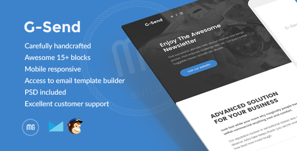 G-Send - Responsive Email + Builder Access - Email Templates Marketing