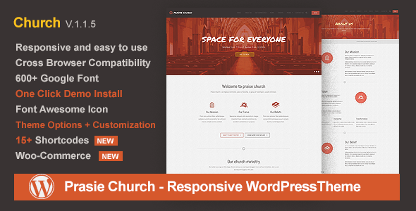 Image of Praise Church - Responsive WordPress Theme