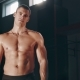 Muscular Handsome Man Standing In Large Gym - VideoHive Item for Sale