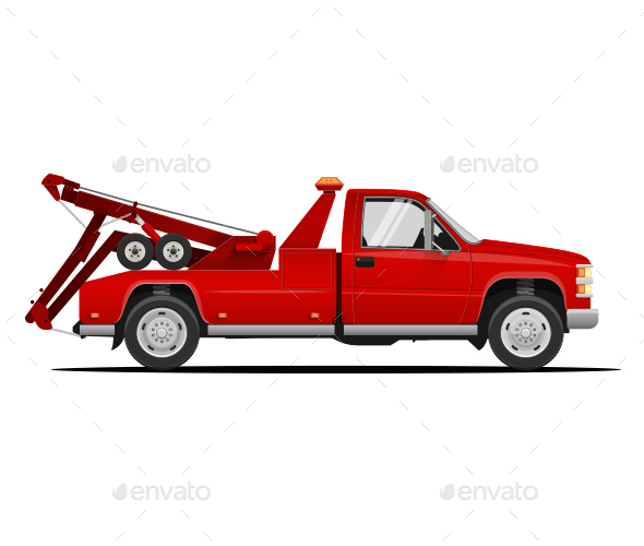 Tow Truck Vector Illustration - Industries Business