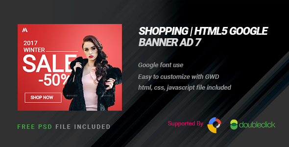 Shopping | HTML5 Google Banner Ad 08 - CodeCanyon Item for Sale