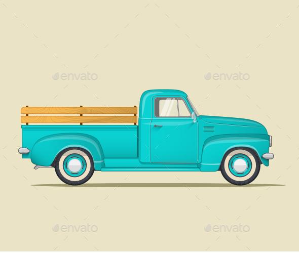 Classic Pickup Truck - Retro Technology