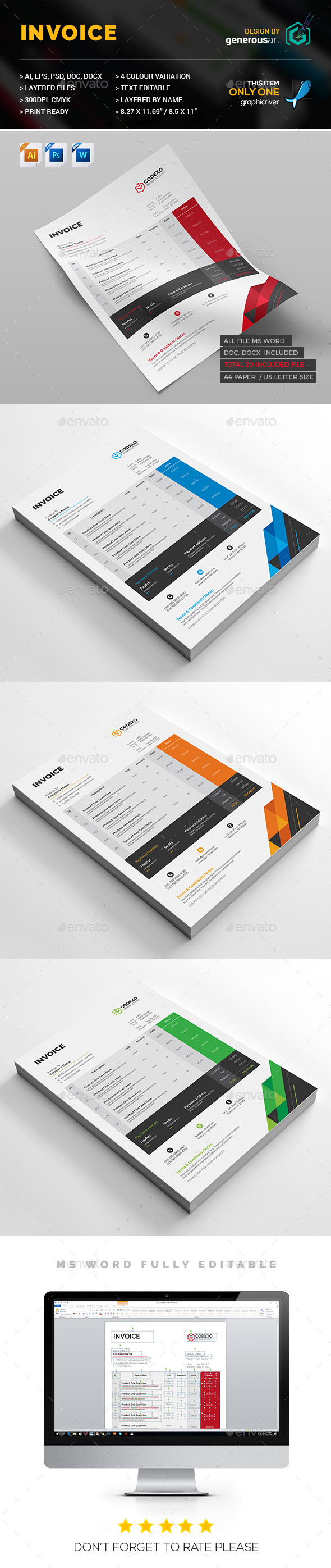 Pro_Invoice - Stationery Print Templates