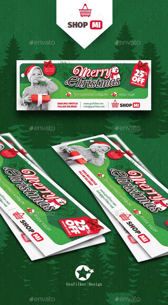 Christmas Shopping Cover Templates - Facebook Timeline Covers Social Media