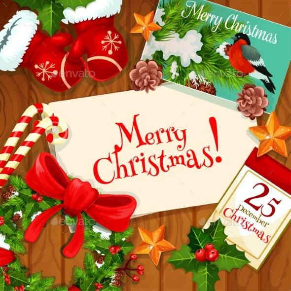 Christmas Day, Winter Holiday Greeting Card Design - Christmas Seasons/Holidays