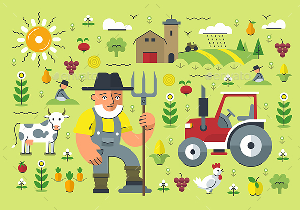 Farming Illustration - Miscellaneous Conceptual