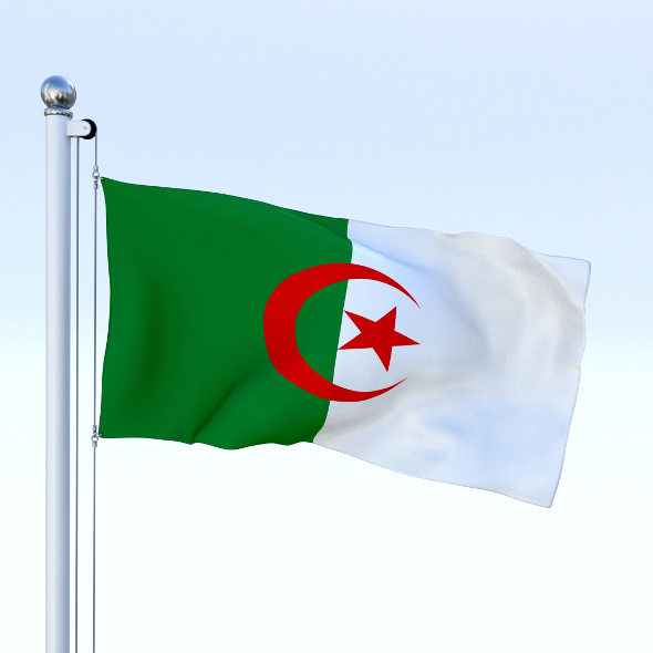 Animated Algeria Flag - 3DOcean Item for Sale