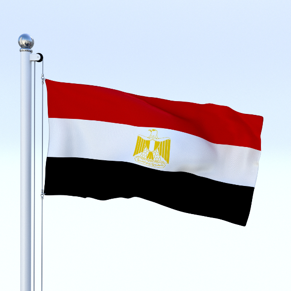 Animated Egypt Flag - 3DOcean Item for Sale