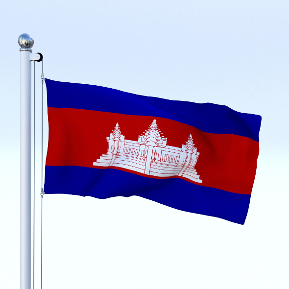 Animated Cambodia Flag - 3DOcean Item for Sale