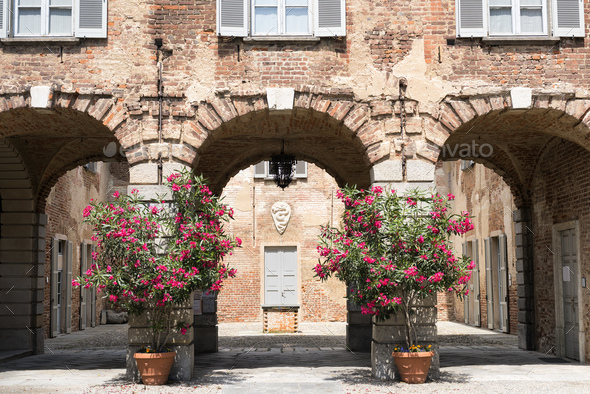 Fagnano Olona (Italy), the castle - Stock Photo - Images
