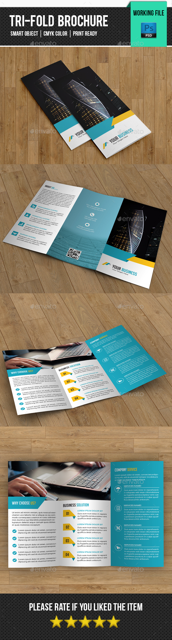 Corporate Trifold Brochure-V296 - Corporate Brochures