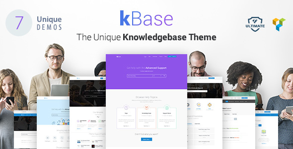 Knowledge Base, Help Desk WordPress Theme – kBase