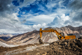 Road construction in mountains Himalayas - PhotoDune Item for Sale