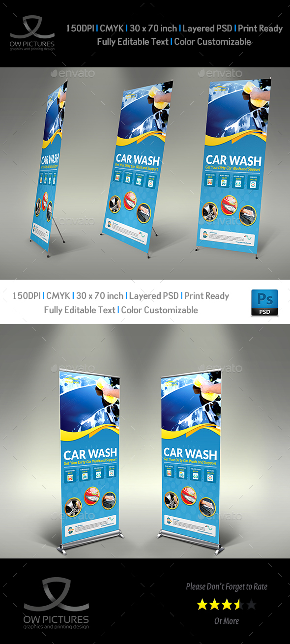 Car Wash Signage Template - Signage Print Templates