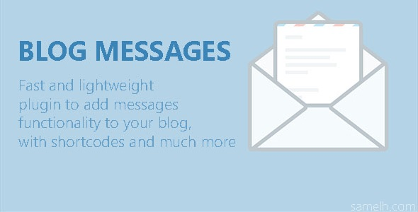 Blog Messages - CodeCanyon Item for Sale