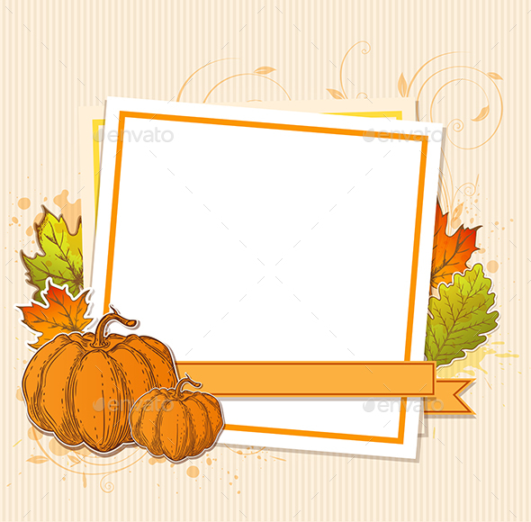 Autumn Frame with Pumpkins - Seasons Nature