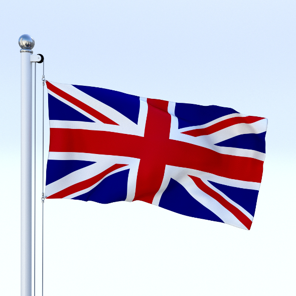 Anmated Great Britain Flag - 3DOcean Item for Sale