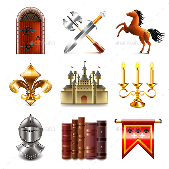 Medieval Icons Vector Set - Miscellaneous Vectors