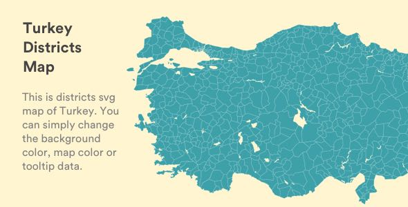 Interactive Vectorel Turkey Districts Map [SVG, JS, HTML5] - CodeCanyon Item for Sale