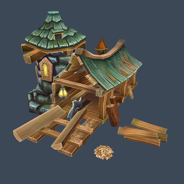 cartoon house 8 - 3DOcean Item for Sale