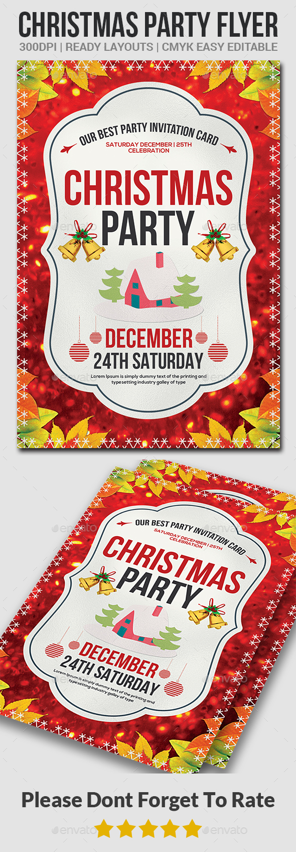 Christmas Party Flyer Template - Events Flyers