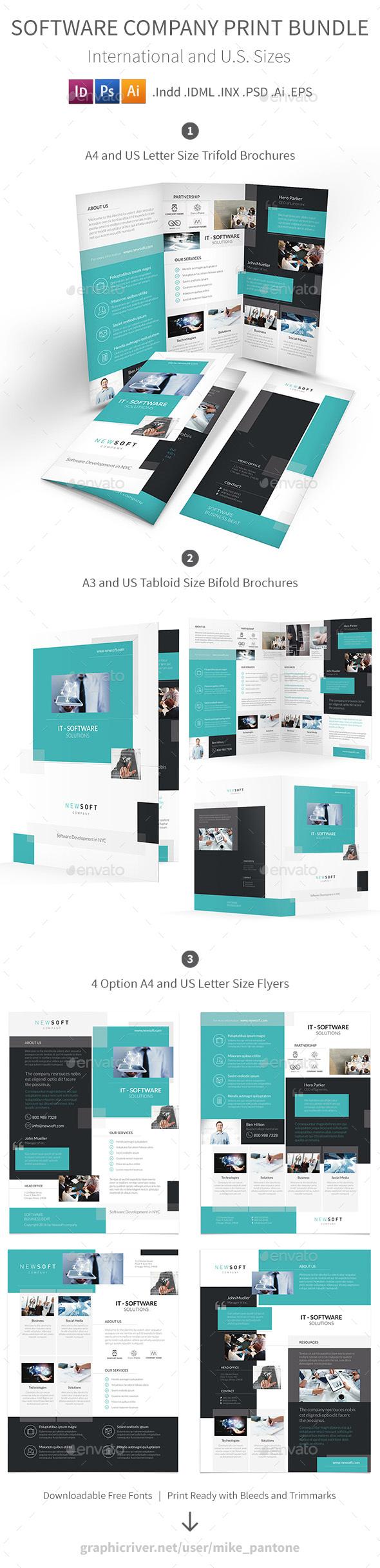 Software Company Print Bundle - Corporate Brochures