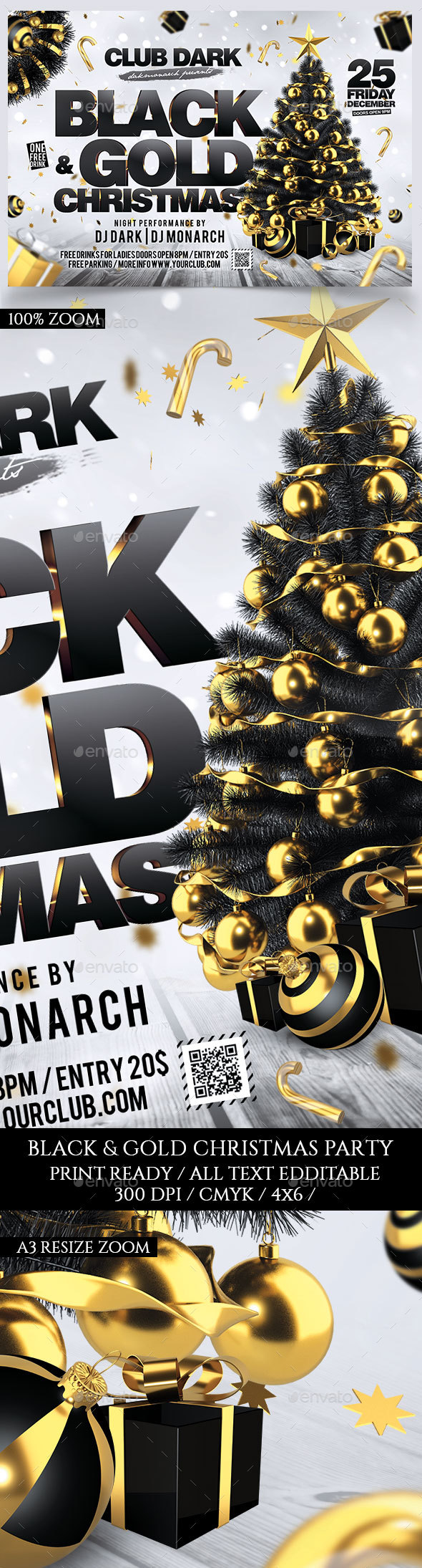 Black and Gold Christmas - Holidays Events