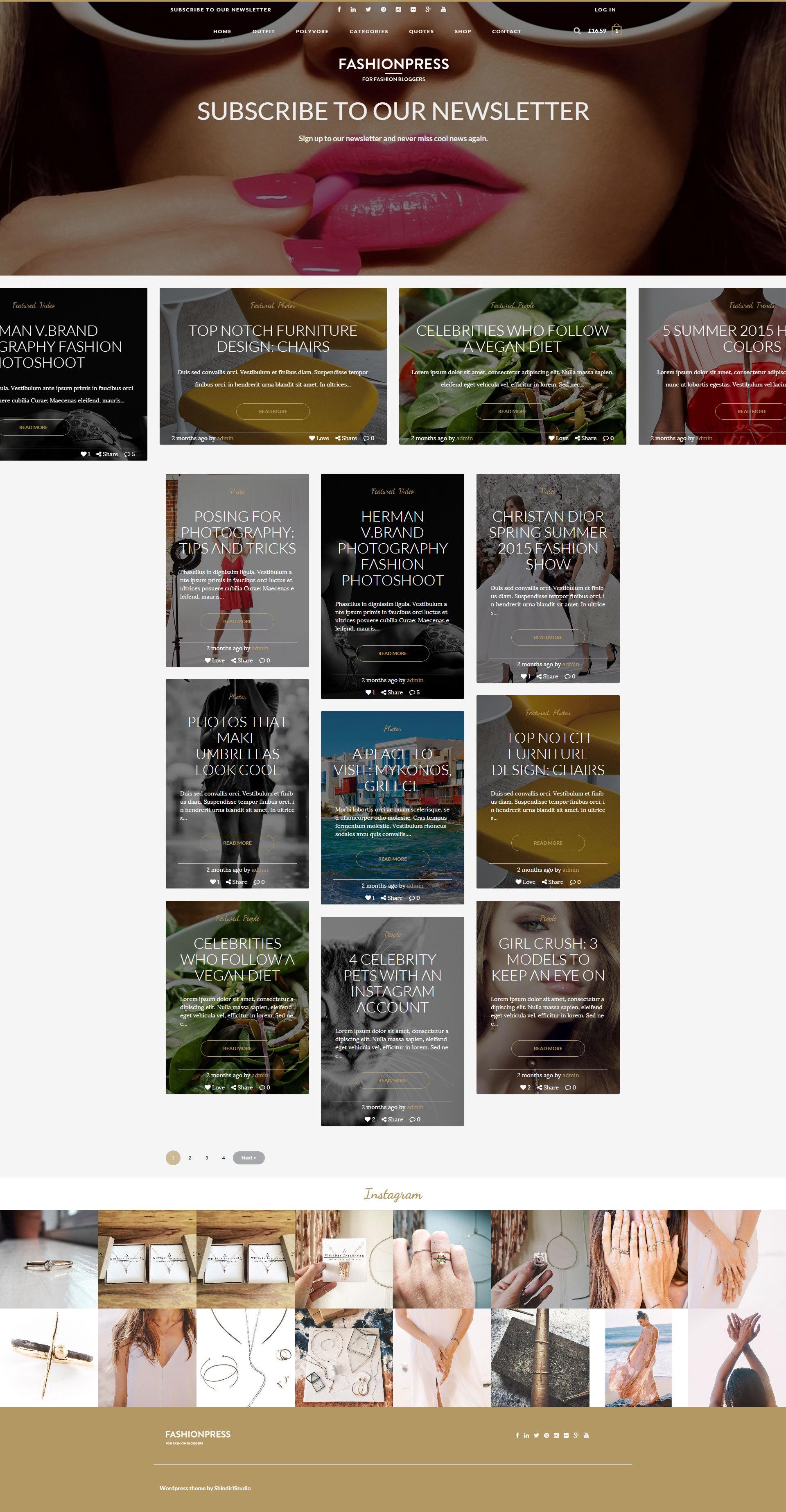 Fashionpress Wordpress Theme For Fashion Bloggers Responsive