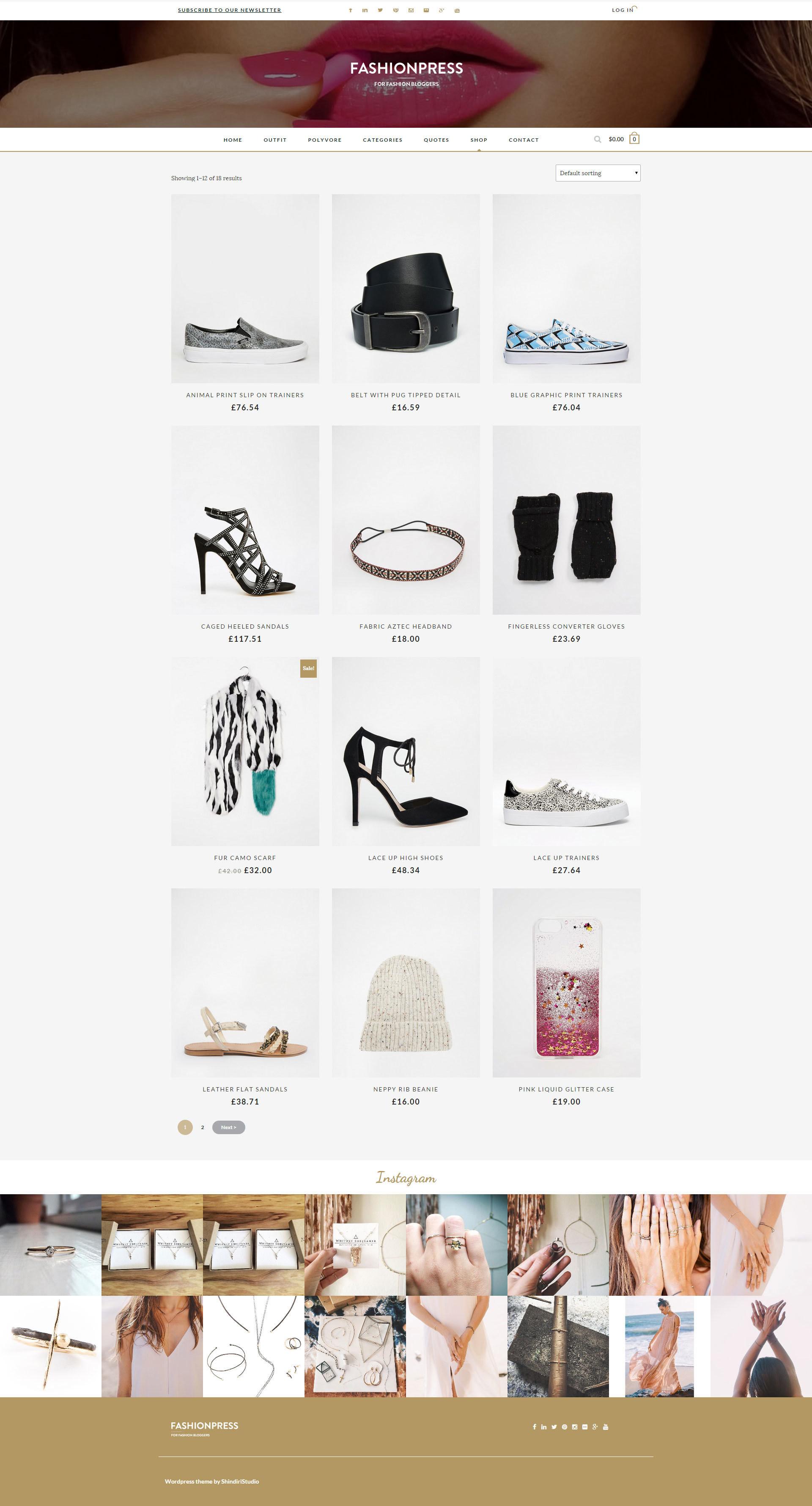 Fashionpress Wordpress Theme For Fashion Bloggers Responsive