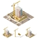 Vector Isometric Low Poly Construction Site - GraphicRiver Item for Sale