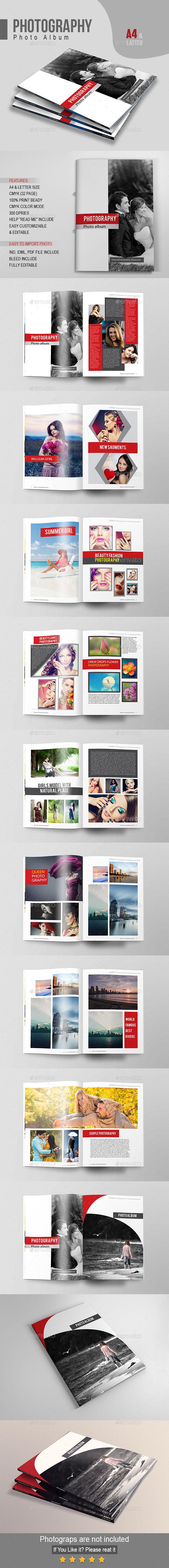 Photography Photo Album - Photo Albums Print Templates