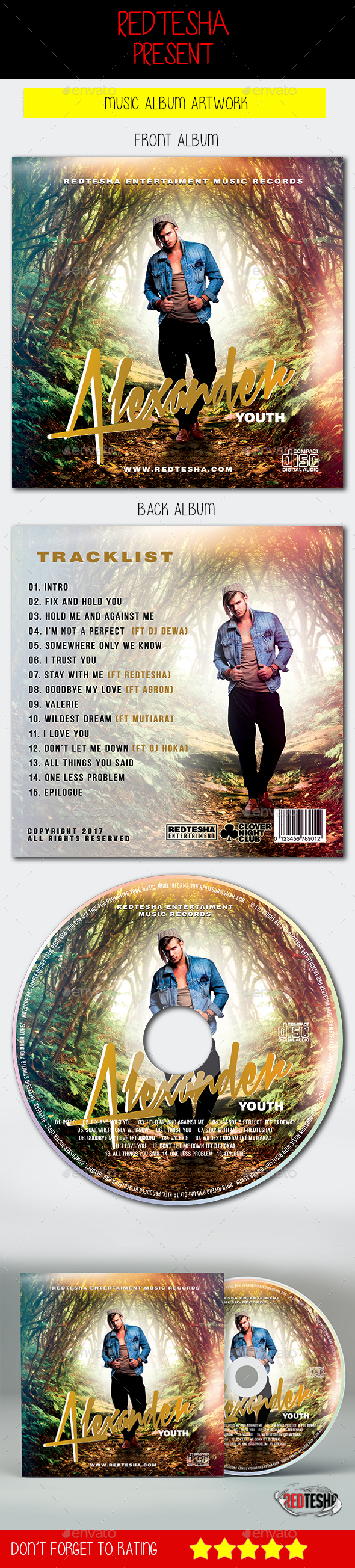 Music Album Artwork - CD & DVD Artwork Print Templates