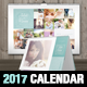Wedding A3 Wall + A5 Desk 2017 Calendar Template - GraphicRiver Item for Sale