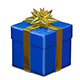 3D Illustration of Red and Blue Gift Box Nulled