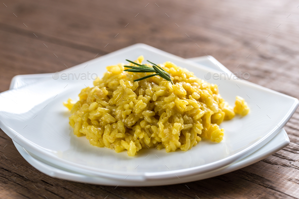 Risotto with saffron - Stock Photo - Images
