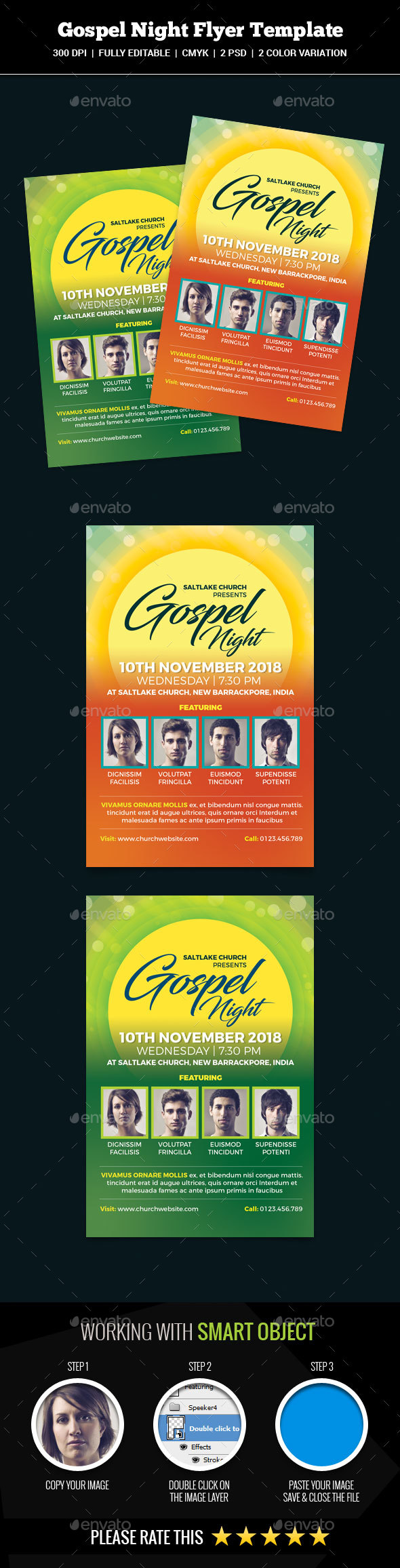 Gospel Night Flyer - Church Flyers