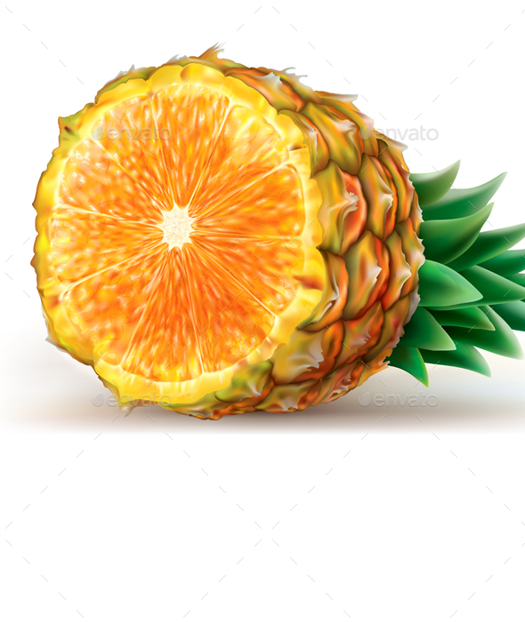 Mix of Pineapple with Orange - Food Objects