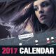 Stylish Corporate 2017 Horizontal Calendar Template - GraphicRiver Item for Sale
