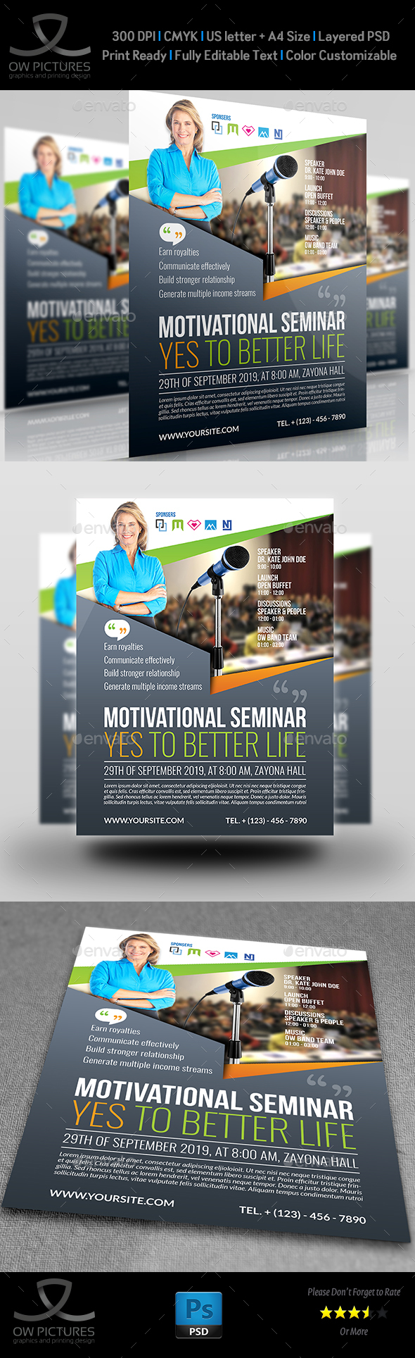 Seminar Flyer Templates By OWPictures GraphicRiver - Home buyer seminar flyer template