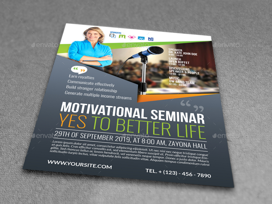 Seminar Flyer Templates By Owpictures | Graphicriver