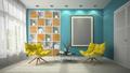Interior of modern design room 3D illustration - PhotoDune Item for Sale