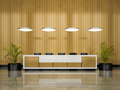Interior of a hotel reception 3D illustration - PhotoDune Item for Sale