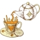 Tea Cup And Pot - GraphicRiver Item for Sale