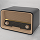 Low Poly Vintage 50s Radio - 3DOcean Item for Sale
