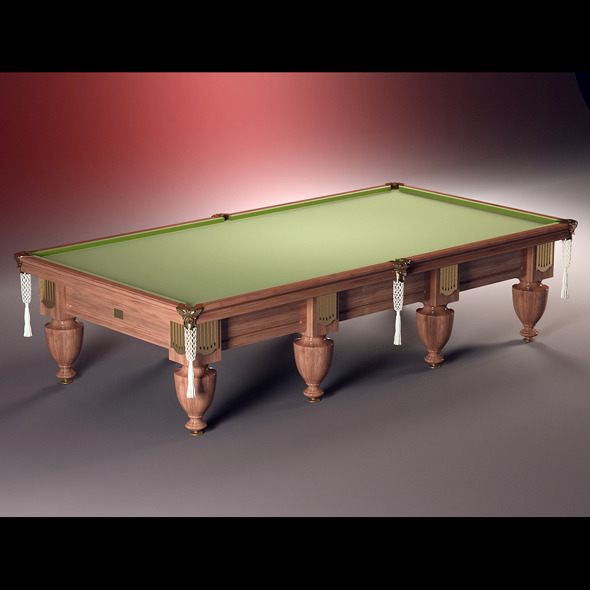 High quality model of classic billiard table - 3DOcean Item for Sale