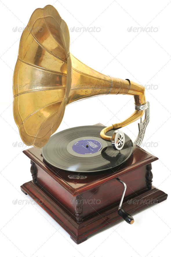 old gramophone - Stock Photo - Images