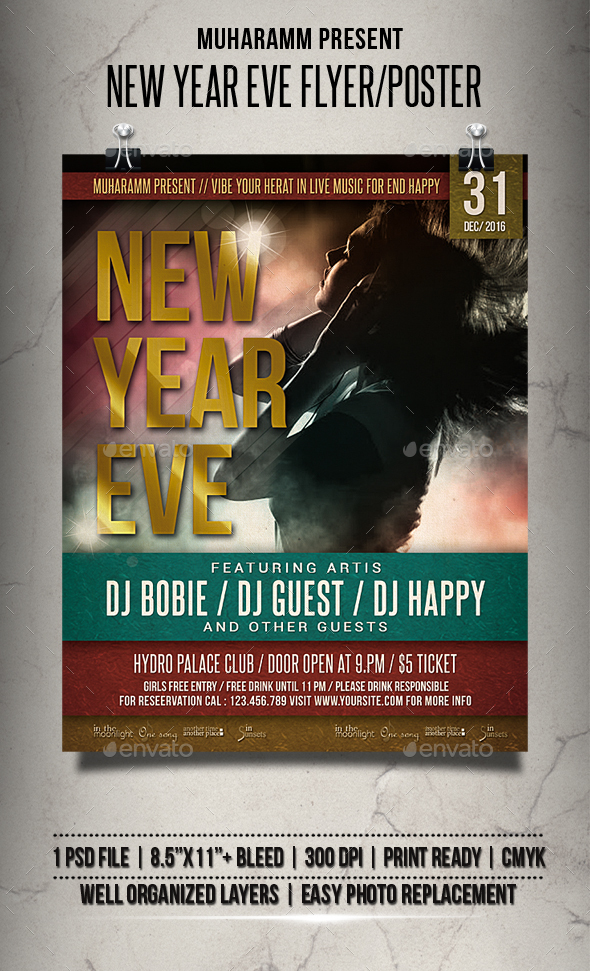 New Year Eve Flyer / Poster - Clubs & Parties Events