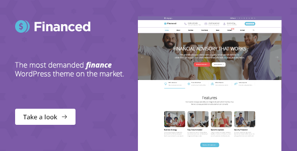 Financed – Finance WordPress Theme